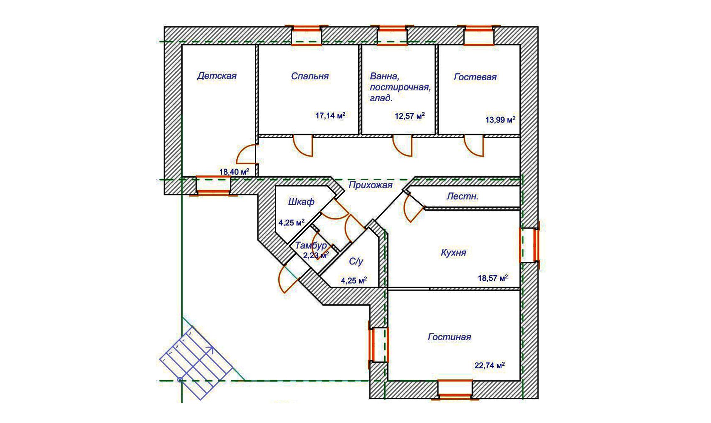 схема дома по фень-шу